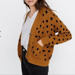 Madewell cropped sweater in painted spots